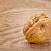English walnut on wood