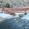 Poudre River in winter