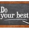 Do your best on blackboard
