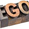 ego word in letterpress wood type