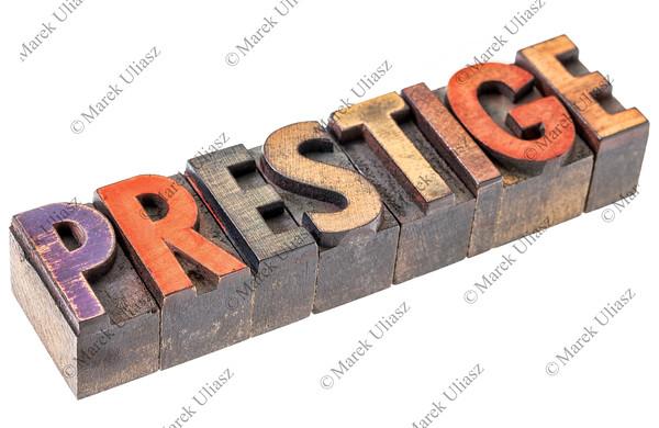 prestige in vintage wood type