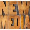 new media in wood type