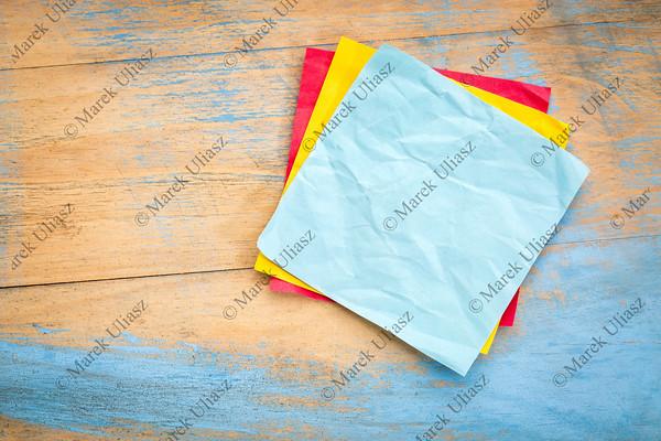 blank blue sticky note