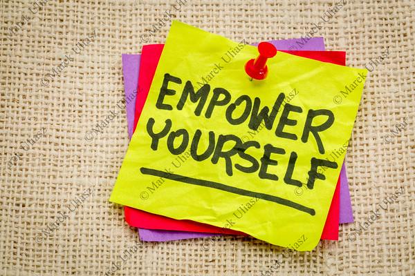 empower yourself reminder note