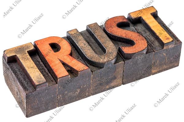 trust in vintage wood type