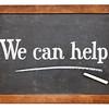 We can help blackboard sign