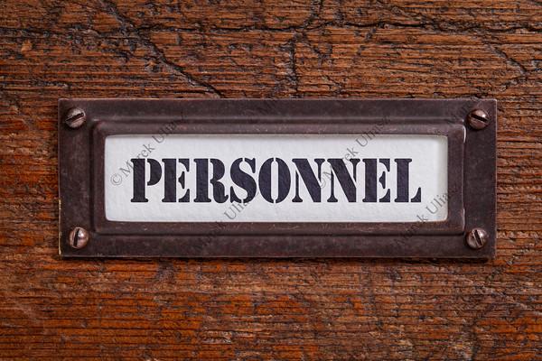 personnel - file cabinet label