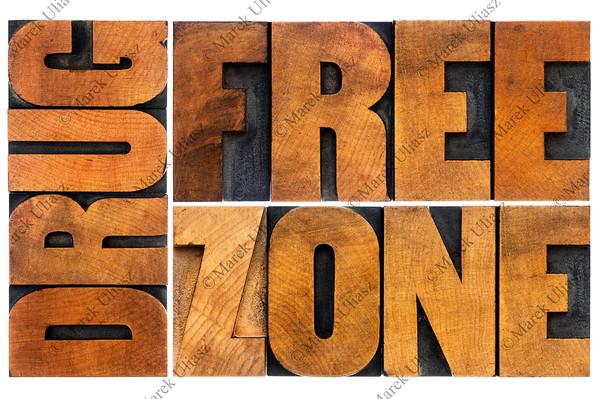 drug free zone in wood type