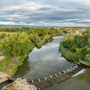 aerial panorama of Poudre River