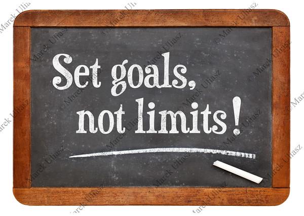 Set goals, no limits
