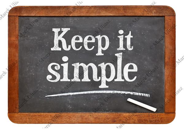 Keep it simple - advice on blackboard