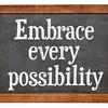 Embrace every possibility on blackboard
