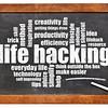 life hacking word cloud