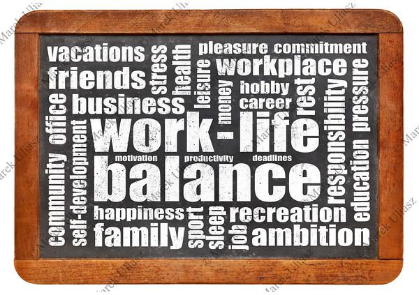 work life balance word cloud