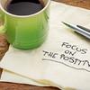 focus on the positive on napkin