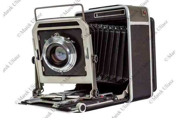 old American press camera