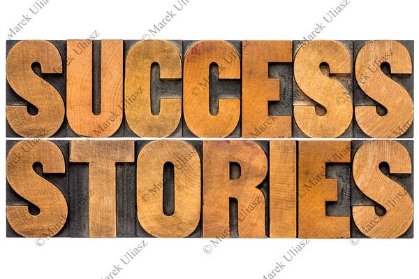 success stories typography