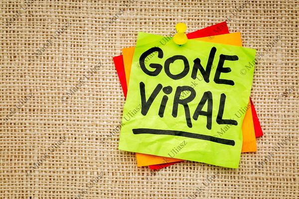 Gone viral - sticky note
