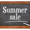 Summer sale blackboard sign