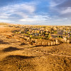 prairie at Colorado foothills - aerial panorama