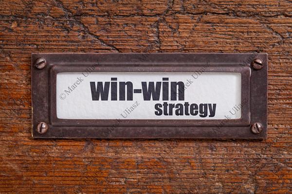 win-win strategy - file cabinet label