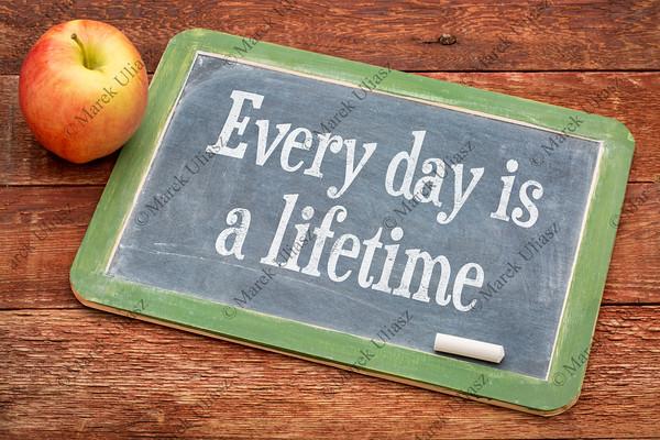 Every day is a lifetime on blackboard