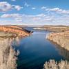 aerial panorama of Horsetooth Reservoir
