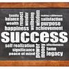 success word cloud on blackboard