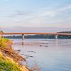 Missouri River and bridge at Hermann
