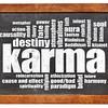 karma word cloud on blackboard