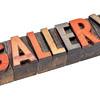 gallery banner in vintage wood type