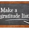 Make a gratitude list on blackboard