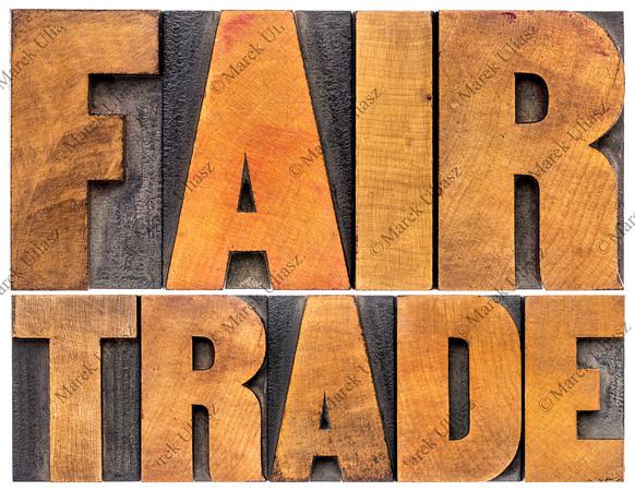 fair trade typography