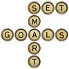 set smart goals in  typewriter keys