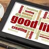 good life - positive word cloud