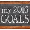 My 2016 goals on blackboard