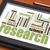 scientific research word cloud