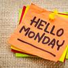 Hello Monday on sticky note