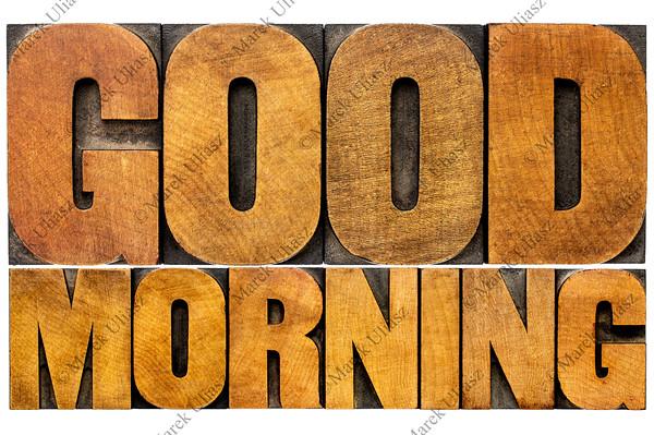 Good morning word abstract