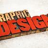 graphic design in wood type