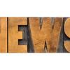 news word typography