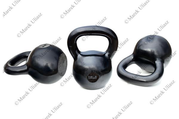 black shiny heavy kettlebells