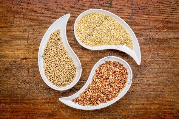 sorghum, millet and buckwheat