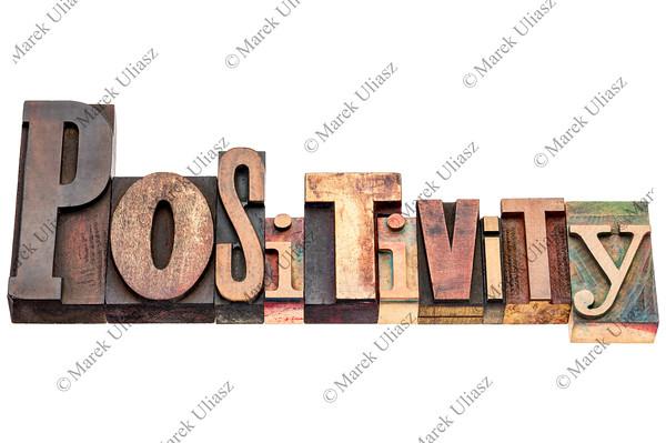 positivity word typography