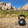 kettlebell outdoor fitness concept