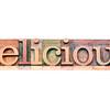 delicious word typography