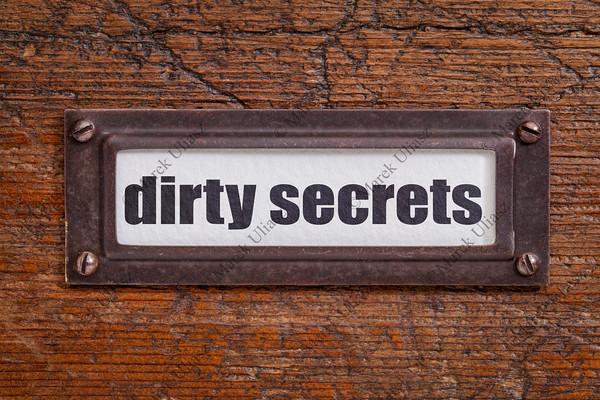 dirty secrets - file cabinet label