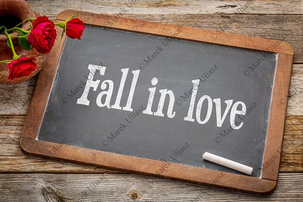 Fall in love advice  on blackboard