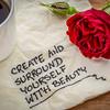 inspirational handwriting on napkin