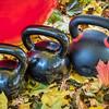 kettlebells and exercise ball